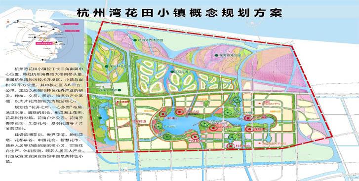 手绘花田平面图